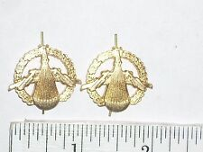 "Vintage Goldtone Pair of 1"" Earth Globe Parachute award for military ? tack pins"
