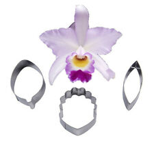 Cake Cookie Cutter Stainless Steel FOUR-C Orchids Flower Cattleya Sugar Rolled