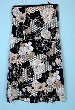 OLD NAVY Black Brown Floral Strapless Casual Summer Day Dress sz 16