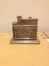 Mylflam Table Lighter with Tavern Setting Silver Plate Vintage