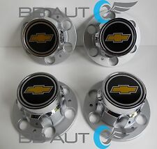 "CHEVROLET CHEVY GMC TRUCK 6 LUG 15"" 15x8 RALLY WHEEL CENTER HUB CAP CAPS SET NEW"