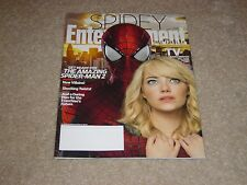 THE AMAZING SPIDER-MAN 2 * EMMA STONE April 4 2014 ENTERTAINMENT WEEKLY MAGAZINE