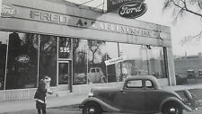 "12 By 18"" Black & White Picture Ford - 1936 - Carleson new car dealer Showroom"