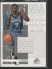 TERRELL BRANDON 2002-03 SP GAME USED JERSEY CARD #58