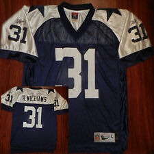 DALLAS COWBOYS Mens Throwback R Williams #31 Reebok Throwback Jersey Large Blue