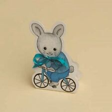lot de 10 boites à dragées Ballotin+ruban Lapin Bleu Vélo baptême mariage