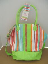 NEW TWOS COMPANY KEEP IT COOL FOOD DRINK TOTE W/ INSULATED COMPARTMENT BAG BEACH