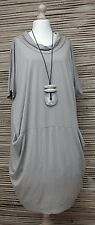 LAGENLOOK*BEAUTIFUL BALLOON 2 POCKETS DRESS/LONG TUNIC*CAPPUCCINO*SIZE L-XL-XXL