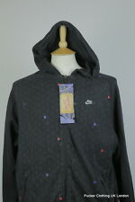 NIKE MENS HOODIE LARGE RETRO SPORTSWEAR ZIPPER URBAN FESTIVAL SOFT SWEATER BLACK