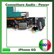 Flex Flat Dock Connettore Ricarica Microfono Jack Cuffie per IPHONE 6 BIANCO