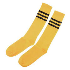 NEW! Pair Yellow Black Stripes Socks w/ Toes Crossfit Soccer Socks Mens Women