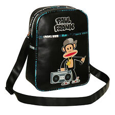 Paul Frank-Julius Monkey Ghetto Blaster-messenger/x Body Bag-Negro