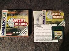 Soccer Manager Gameboy Color Game! Complete! Look At My Other Games!