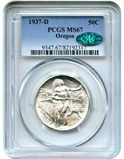 1937-D Oregon 50c PCGS/CAC MS67 - Low Mintage Issue - Low Mintage Issue