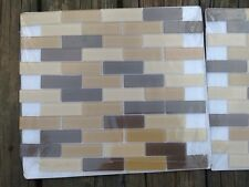 Glass Mosaic Tiles Beautiful Ambers Brown 12X12