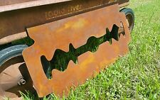 Antique Barber Shop Sign RUSTY RAZOR Vintage Look Price is a STEAL!