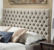 Headboards King Size Beds Padded Clearance Upholstered Button Tufted Sand Fabric