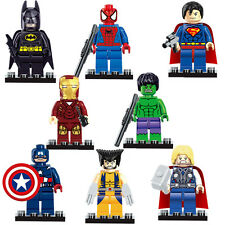 2016 NEW 8 PC SUPER HERO MINI FIGS MINI FIGURES FITS WITH LEGO UK TOY MARVEL DC