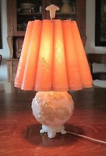 Vintage Aladdin electric lamp Paper whip-o-lite Shade Table Lamp with finial20