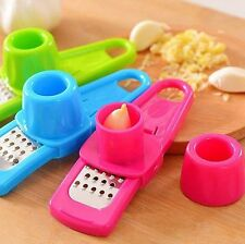 1Pc Multi-functional Plastic Stainless Steel Garlic Presses Kitchen Gadgets