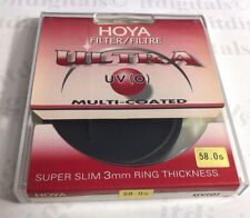 Genuine Hoya 58mm UV (0) Ultra Slim Multi-Coated Lens Protector Filter Japan MC