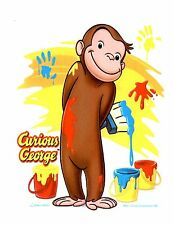 Cute Curious George Monkey Edible Cake Image Topper for 1/4 sheet cake