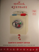 2016 Hallmark Ornament Santa's Dandy Dryer New Light & Motion Christmas MAGIC