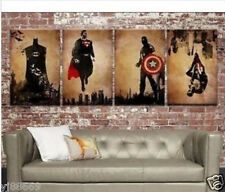 4 Superhero Oil Painting Modern Abstract Wall Decor Art Canvas (No Frame)