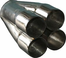 """4-1 Stainless Steel MERGE COLLECTOR 4 x 2"""" ID in 3"""" out HIGH PERFORMANCE"""