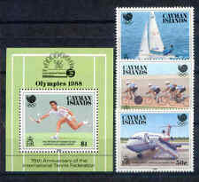 Olympiade 1988, Olympic Games - Kaiman-Inseln - 608-610, Bl.17 ** MNH
