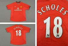 2000-02 UMBRO Manchester United Home Shirt SCHOLES 18 SIZE M (adults)