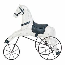 Clayre Eef Pferd auf Rädern 24*9*20cm Dekofigur Deko Nostalgie Tier Polyresien