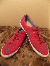 I LOVE UGG~LADIES HOT PINK BLUE HEARTS SNEAKERS size 9~NEW
