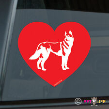 Love Husky Sticker Die Cut Vinyl - Siberian Heart Dog