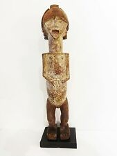 """Rare African ambete reliquary Statue  Gabon on a custom wood stand 30.5"""" h"""