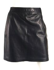 RALPH LAUREN BLACK LABEL Ink Blue Lambskin Leather Pencil Skirt 8