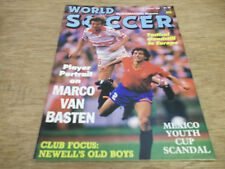 Football Magazine World Soccer August 1988 Marco Basten Malta Newell's Old Boys