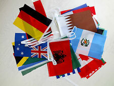 WORLD COUNTRY 32 NATION FLAG 8M 26 FT FABRIC BUNTING PARTY INTERNATIONAL SCHOOL