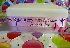 45mm width ICE SKATING PERSONALISED RIBBON for Cakes, Awards Birthdays gifts etc