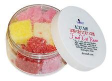 Diva Stuff Fresh Cut Roses Scent Sugar Scrub, Exfoliates Dead Skin, 8 oz