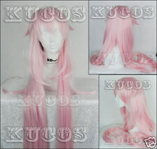Wig CAP +1m Vocaloid Library IA Long Straight Neko Anime Cosplay Wig Free Ship