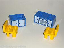 Lego Duplo Küche mit Möbeln und Stühlen für Haus / Puppenhaus