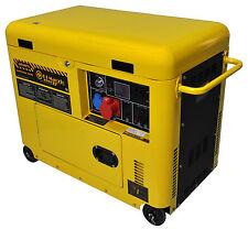 Generatore di corrente diesel 6 kw trifase silenziato - gruppo elettrogeno