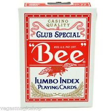 """Bee"" Jumbo Index Red Deck Playing Cards Poker Size USPCC Casino Quality Sealed"