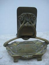 Streichholzschachtelhalter Schachtel Jugendstil antik 1900 floral alt Bronze rar