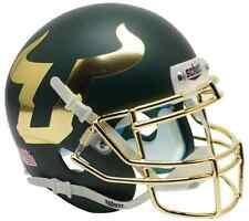 SOUTH FLORIDA BULLS NCAA Schutt Authentic MINI Football Helmet USF (MATTE GREEN)