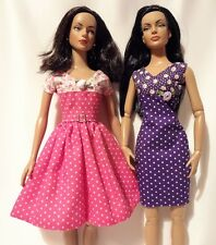 "Handmade dresses for Tyler, Sydney or similar size 16"" Tonner doll x 2"