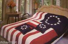 Comforter Bedspread Betsy Ross Flag 86x86 Full Queen NEW with 2 pillow shams