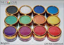 Renta Nacional Bruta Uña Aditivos ® * Brillos 12 * para todas las bases de oro 6ml Medio De Uñas Set Pot superior