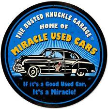 Busted Knuckle Garage Miracle Used Car Auto Metal Sign Man Cave Shop Club BUS109